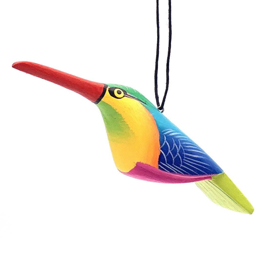 Whimsical Hummingbird Balsa Ornament