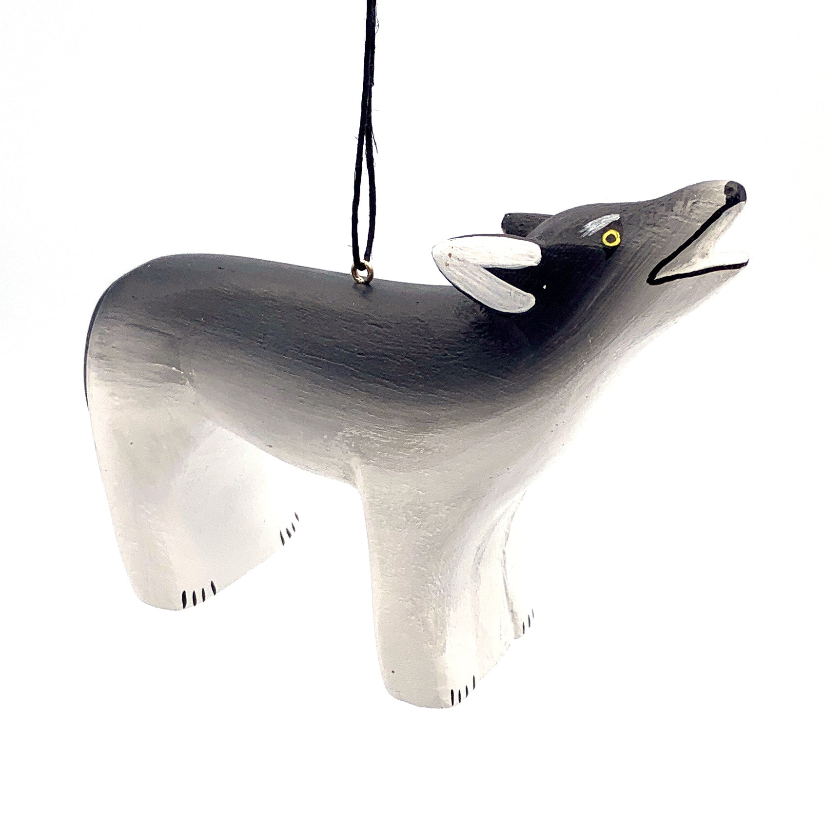 Wolf Balsa Ornament