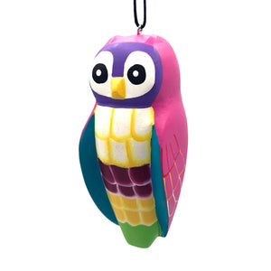 Whimsical Owl Balsa Ornament
