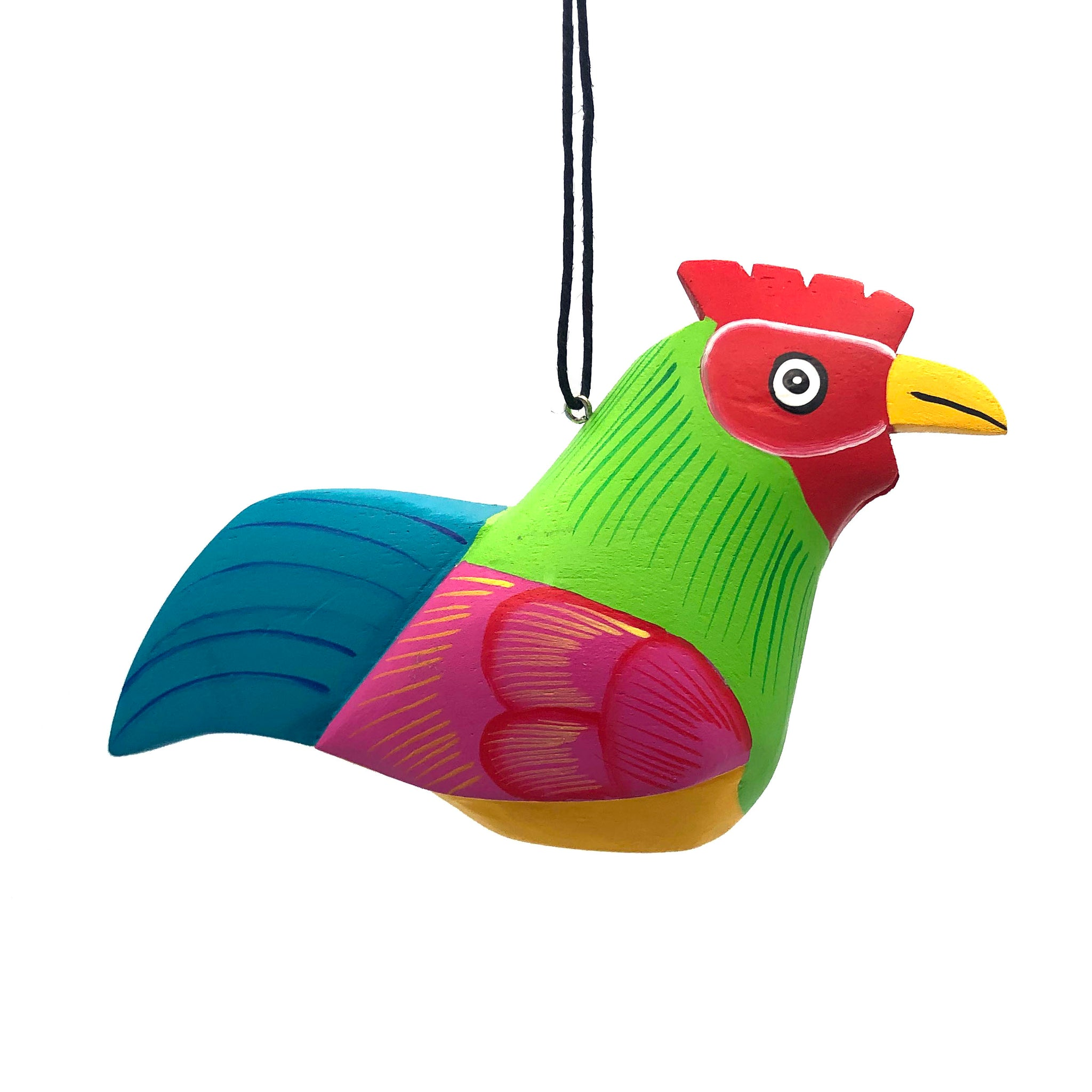 Whimsical Rooster Balsa Ornament