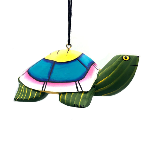 Whimsical Turtle Balsa Ornament