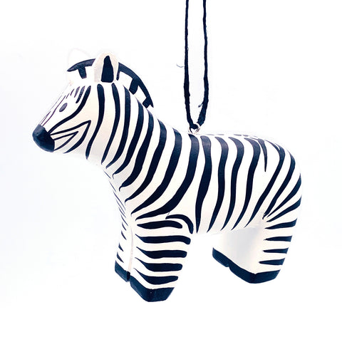 Zebra Balsa Ornament