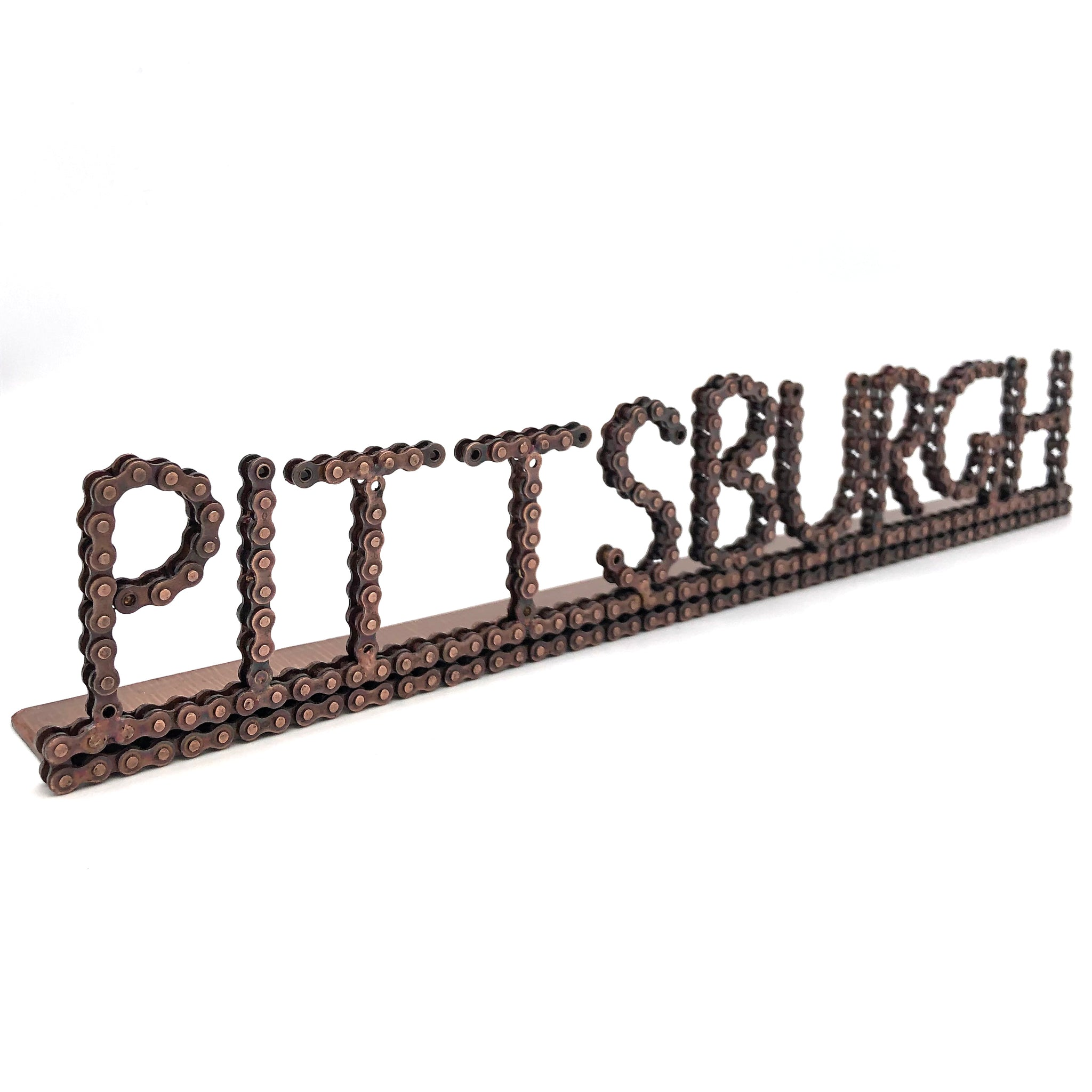 Pittsburgh Bicycle Chain Desk Art