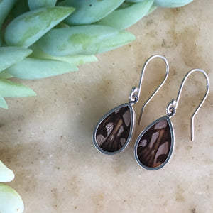 Juno Silverspot Butterfly Earrings