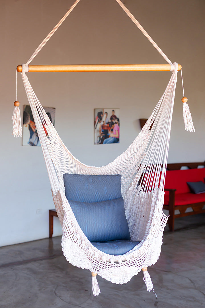Handwoven Hammock Chair (Cream)