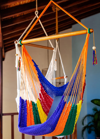 Handwoven Hammock Chair (Rainbow)
