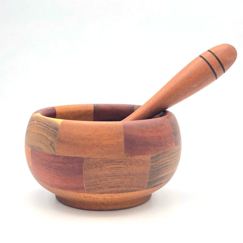Tropical Hardwood Mortar & Pestle - Multi-Wood