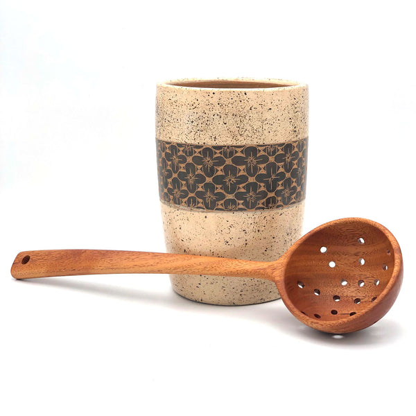 Tropical Hardwood Serving Strainer