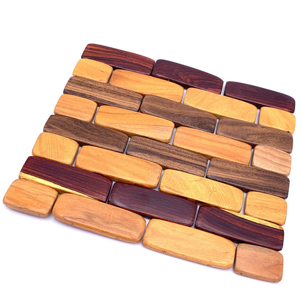 Tropical Hardwood Foldable Trivet