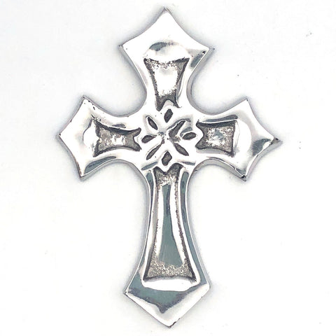 Recycled Aluminum Eternity Cross