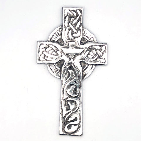 Recycled Aluminum Celtic Cross with Dove