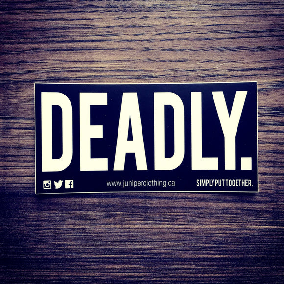 Deadly Sticker