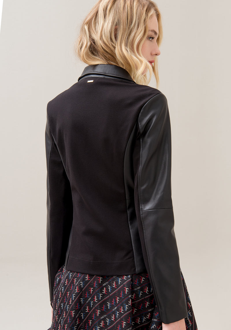 Jacket regular fit made in eco leather-FRACOMINA-F120W07011J00401