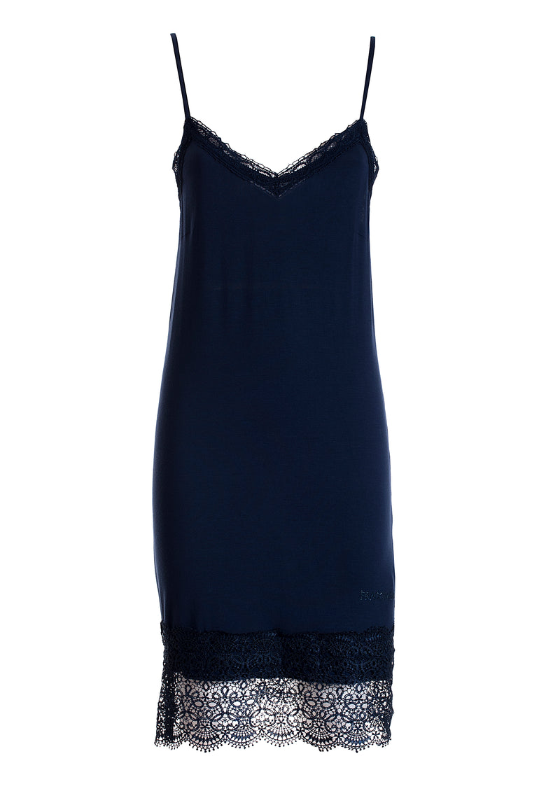 Slip dress regular and tight fit with lace details