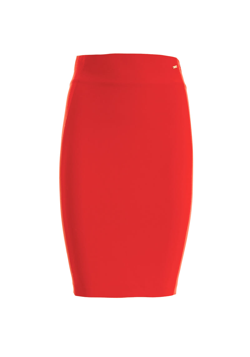Skirt regular fit made in stretch fabric