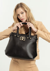 Handbag regular size made in eco leather