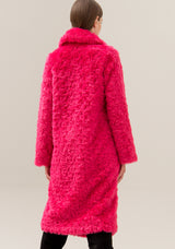 Coat over fit made in boucle effect fabric