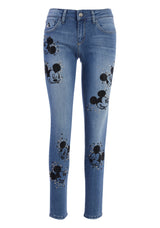 Jeans skinny fit with with Disney's Mickey Mouse print