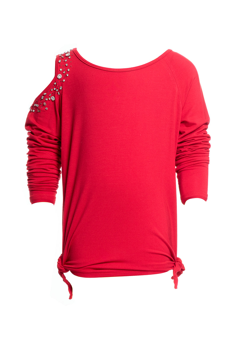 Sweater long sleeves with shiny applications-FRACOMINA MINI-FM20SSG1020