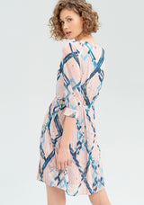 Midi dress with geometric pattern-FRACOMINA-FR20SM036