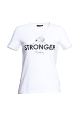 T-shirt with Stronger print