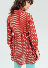 Polka dot blouse with drawstring-FRACOMINA-FR20SM527