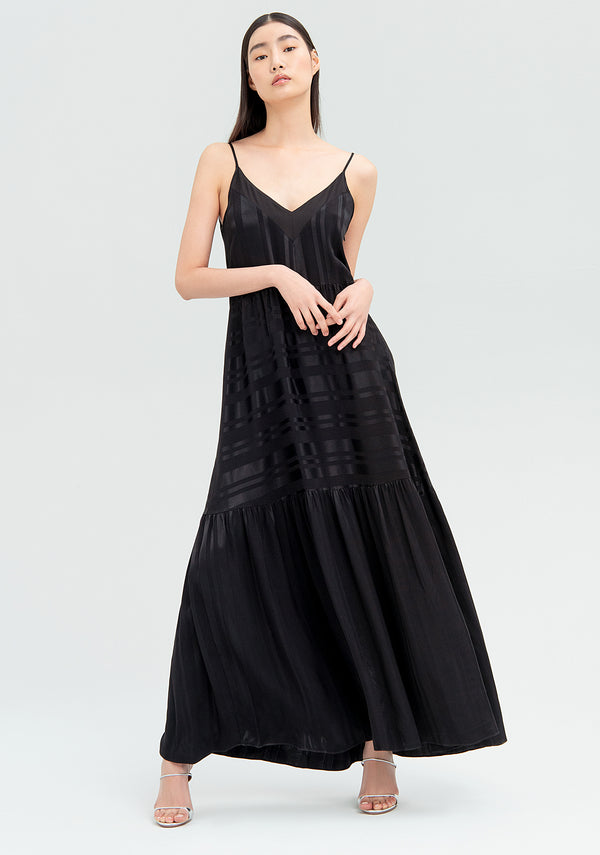 Long dress with flounces-FRACOMINA-FR20SM546