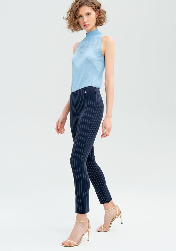 Striped skinny trousers-FRACOMINA-FR20SM614