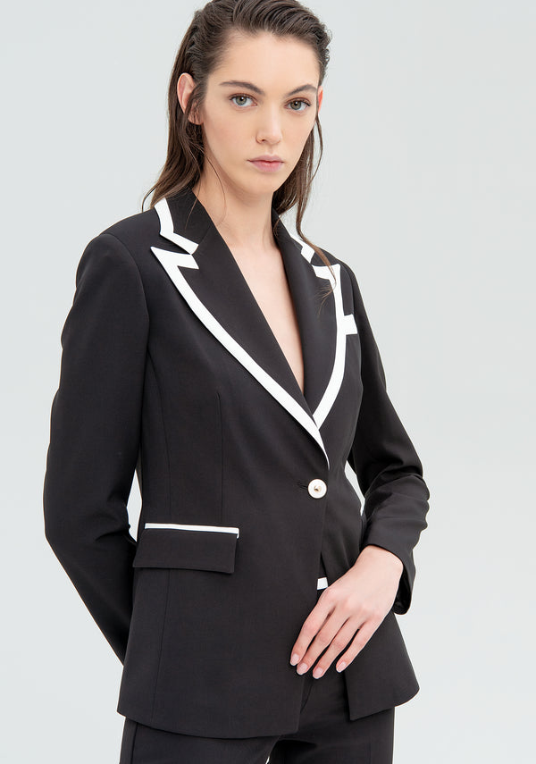 Blazer with contrasting inserts-FRACOMINA-FR20SM630