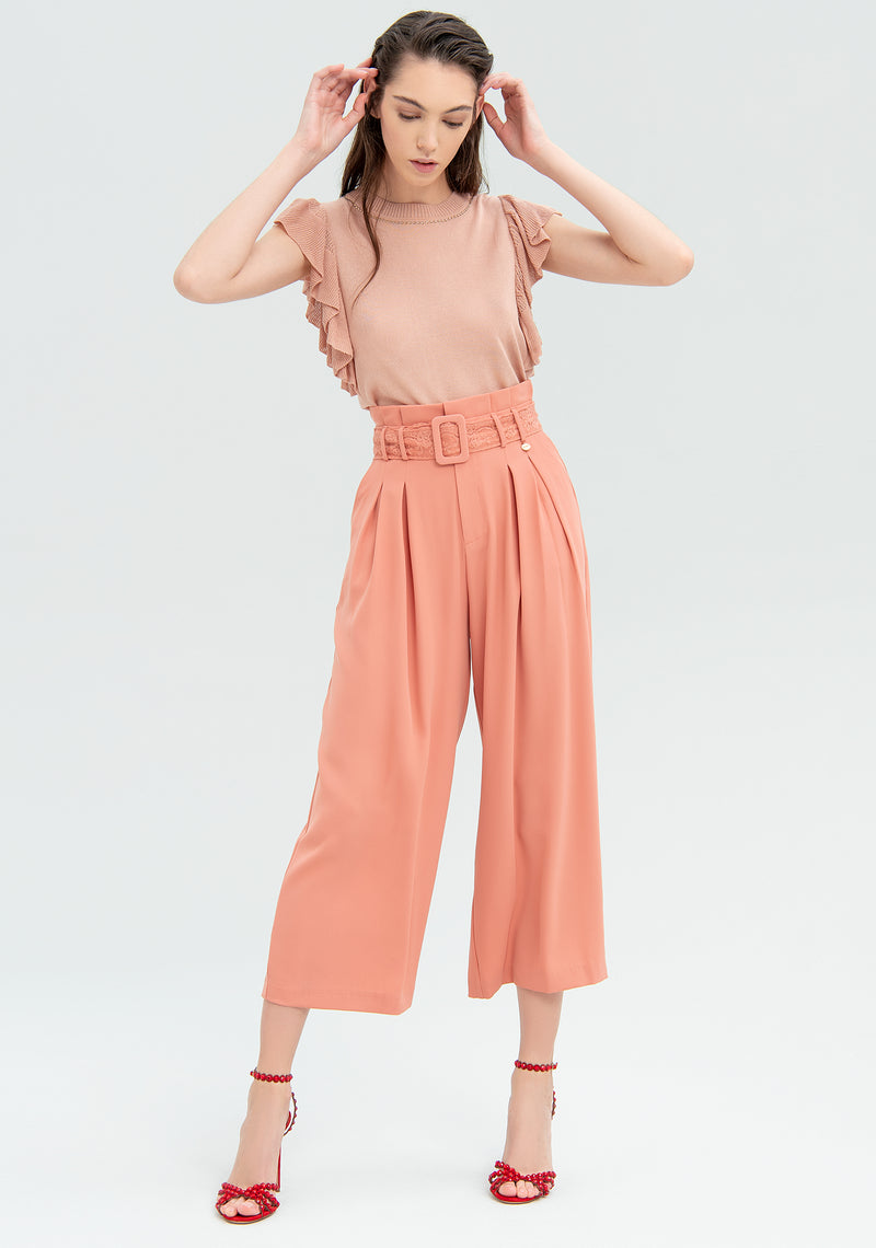 Cropped wide leg trousers-FRACOMINA-FR20SM644
