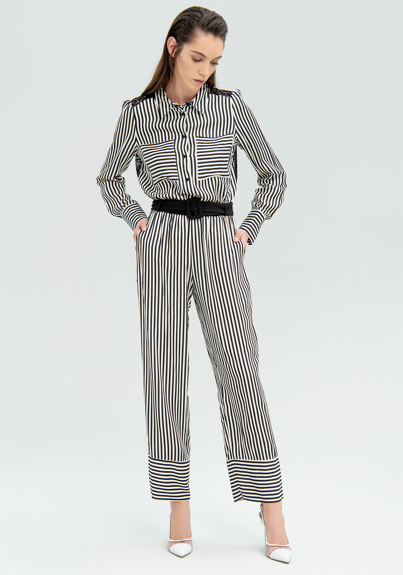Striped bag trousers-FRACOMINA-FR20SM647