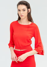 Blouse with half sleeves