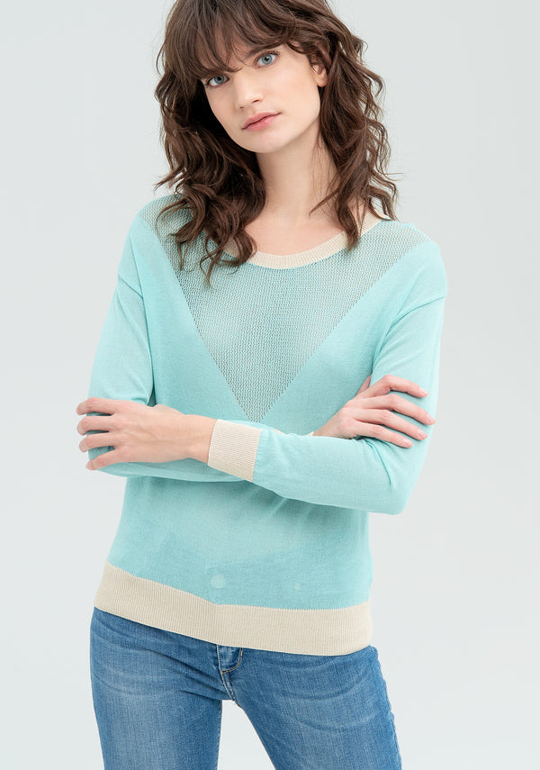 Sweater with ribbed cuffs