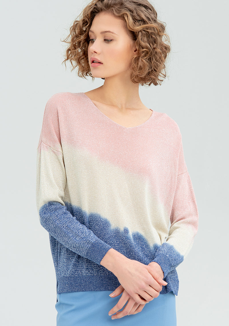 Multi-cololong-sleeved T-shirt-FRACOMINA-FR20SM829