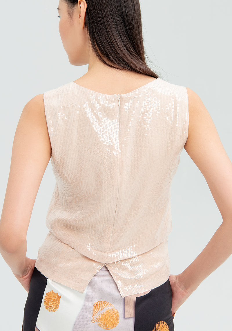 Blouse with colosequins-FRACOMINA-FR20SMARISA