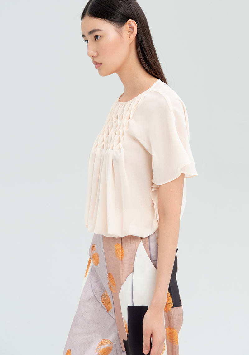 Pleated coloblouse-FRACOMINA-FR20SMFRANCESCA