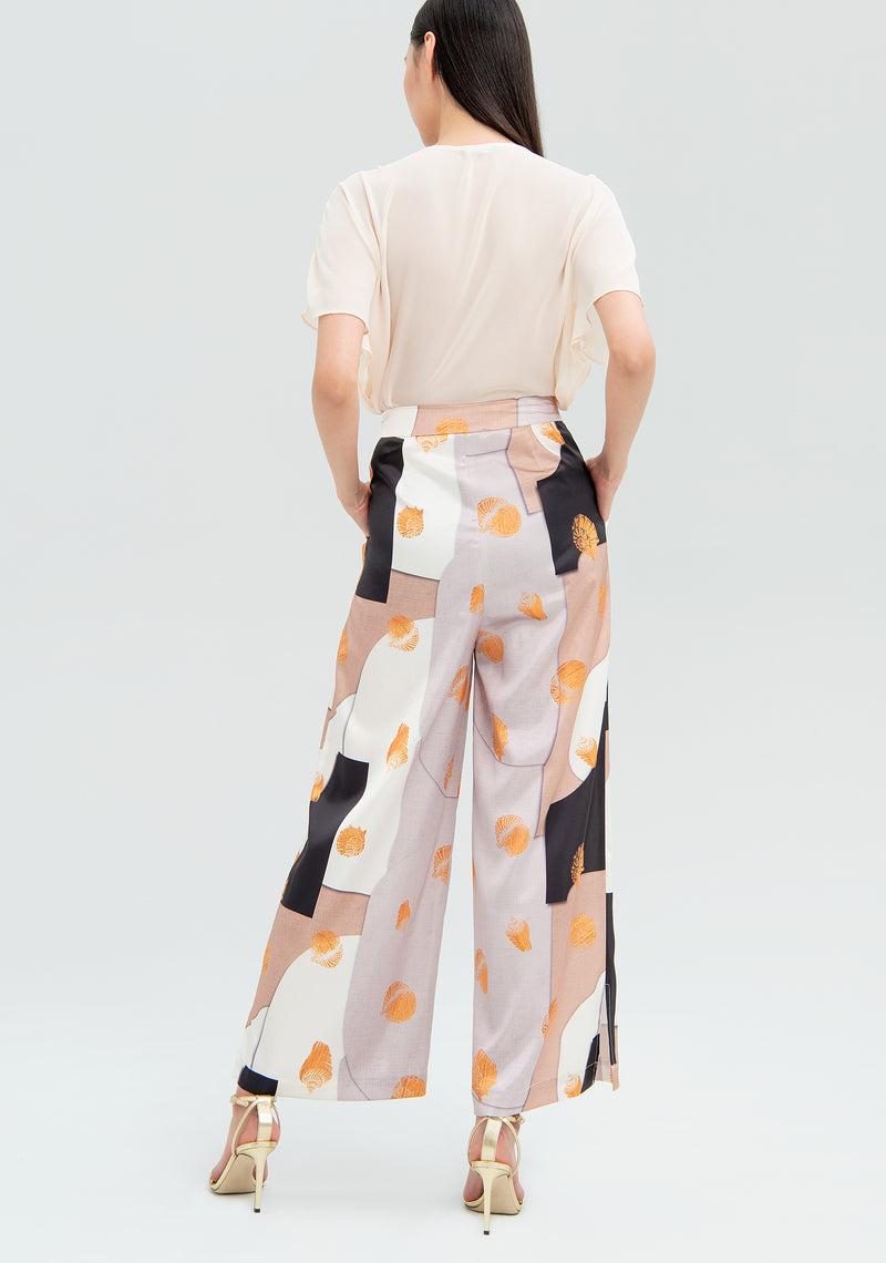 Trousers with abstract pattern-FRACOMINA-FR20SMGAIA