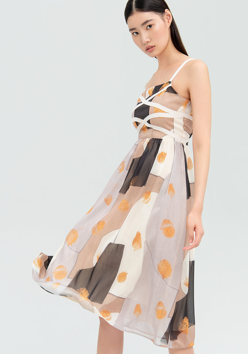 Midi dress with abstract pattern-FRACOMINA-FR20SMGLORIA