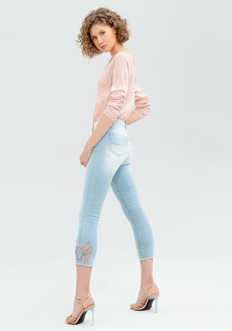 Skinny jeans with inlays-FRACOMINA-FR20SMJEDITH12