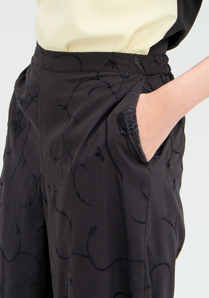 Trousers with floral embroideries-FRACOMINA-FR20SMLOLITA