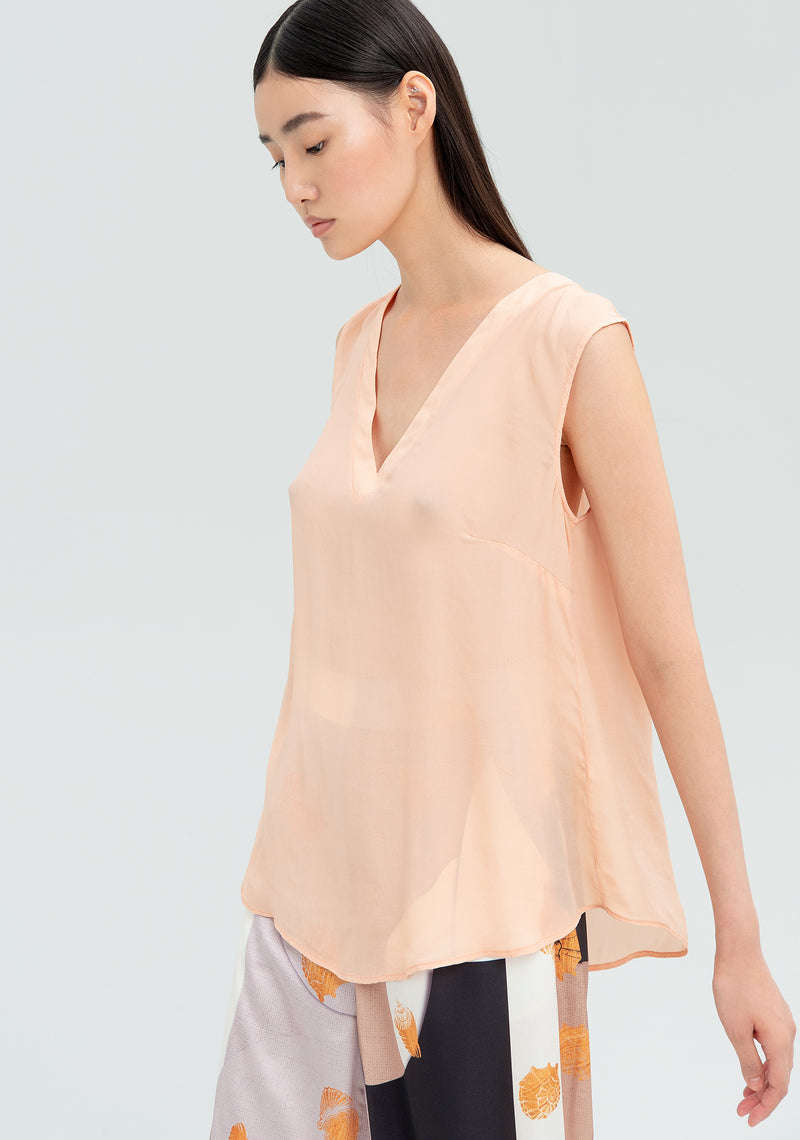 Top shirt with crossed back-FRACOMINA-FR20SMMIRAIA