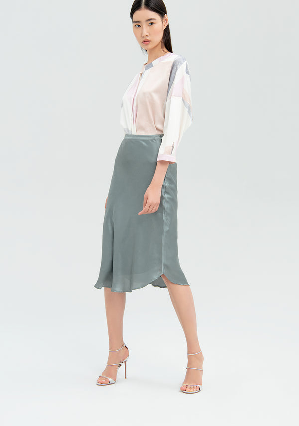 Straight skirt in satin-FRACOMINA-FR20SMRIKA