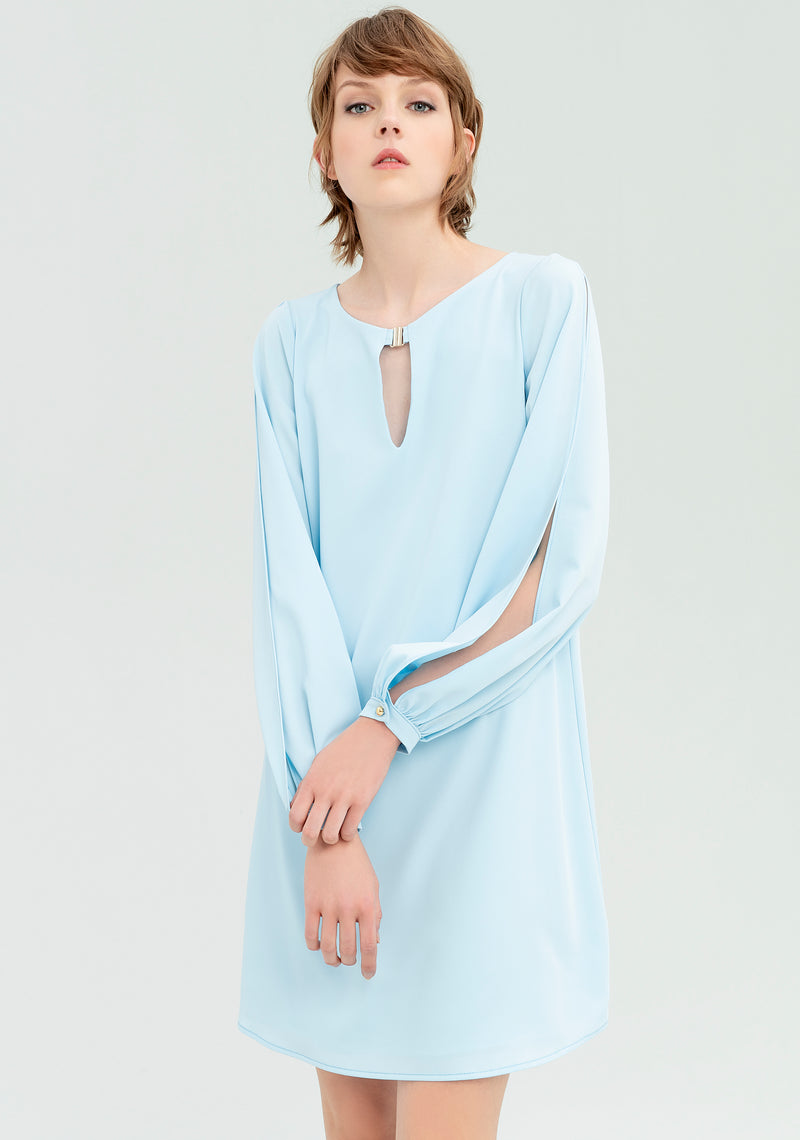 Dress with open sleeves-FRACOMINA-FR20SP055