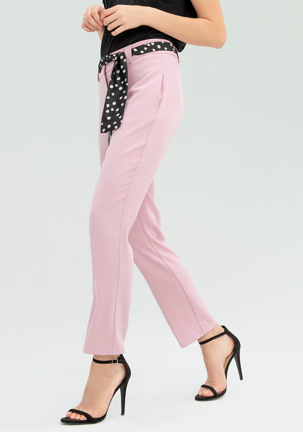 Trousers with polka-dot belt-FRACOMINA-FR20SP068