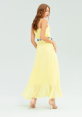 Dress with braids and ruffles-FRACOMINA-FR20SP085