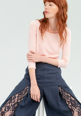Wide leg trousers with lace-FRACOMINA-FR20SP151