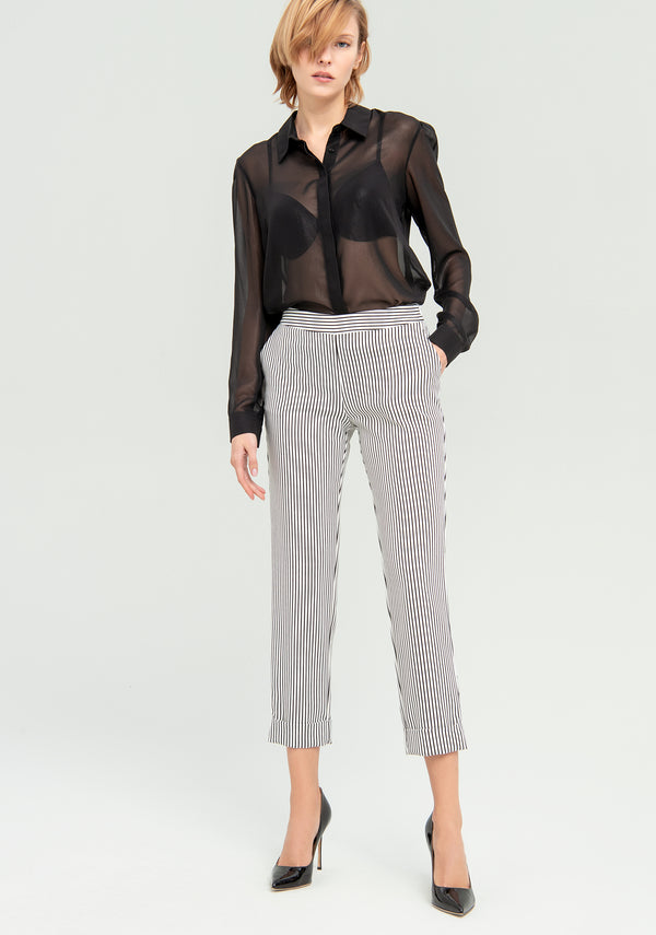 Cropped striped trousers-FRACOMINA-FR20SP163