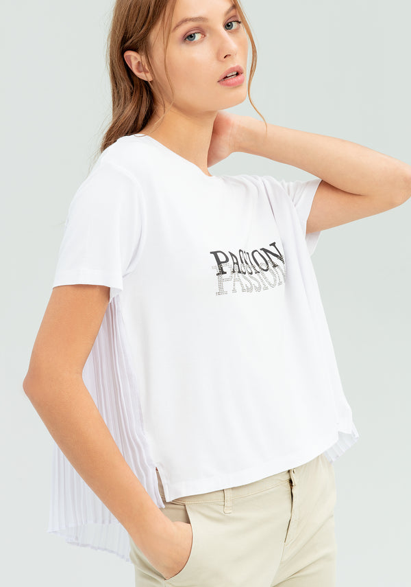 T-shirt with pleated back-FRACOMINA-FR20SP324