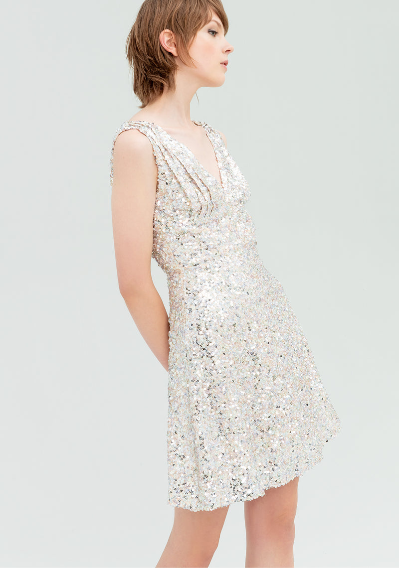Dress covewith sequins-FRACOMINA-FR20SP430