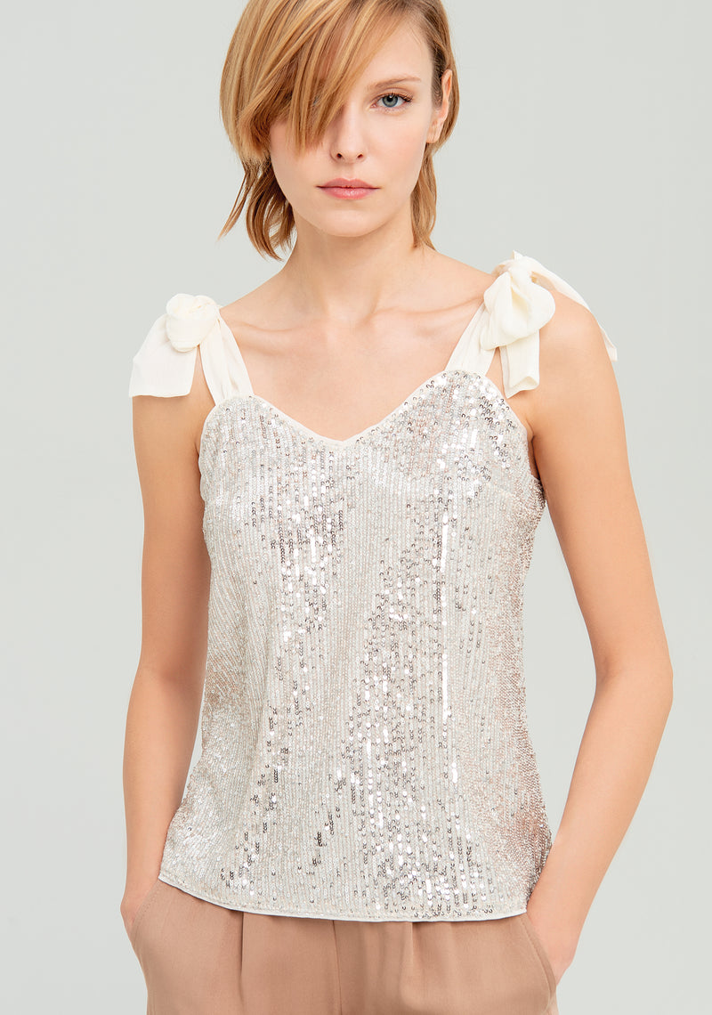 Top shirt with sequins-FRACOMINA-FR20SP501